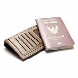Passeport et portefeuille Image libre de droits