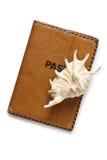Passeport et seashells photo libre de droits