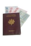 Passeport français Images libres de droits