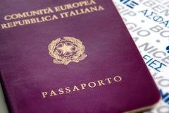 Passeport italien Photo libre de droits