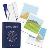 Passeport, photo de billet illustration de vecteur