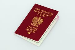 Passeport polonais neuf Images stock
