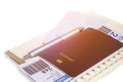 Passeport pour le voyage Photographie stock libre de droits