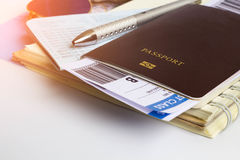 Passeport pour le voyage Images libres de droits
