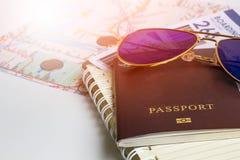 Passeport pour le voyage Photographie stock