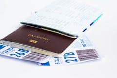 Passeport pour le voyage Photos libres de droits