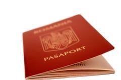 Passeport roumain Photographie stock libre de droits