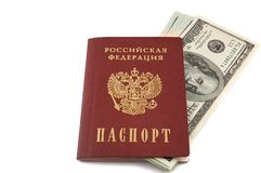 Passeport russe Photo stock
