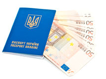 Passeport ukrainien international Photos libres de droits