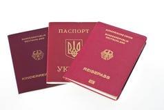 passeports photo stock