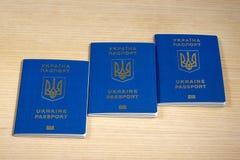 Passeports biométriques ukrainiens Images stock