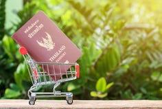 Passeports dans le caddie photo libre de droits