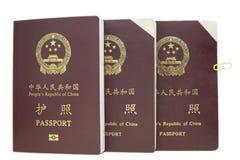Passeports de la Chine Photographie stock libre de droits
