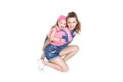 Passeports de la prise deux de mère et de fille Photos libres de droits