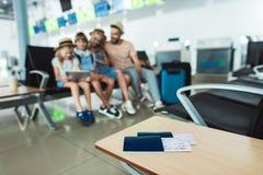 Passeports et billets Photo libre de droits