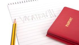Passeports et bloc-notes III Images libres de droits