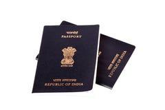 Passeports indiens image stock