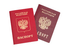 Passeports russes Images stock