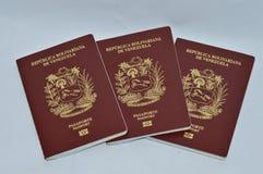 Passeports vénézuéliens Photo libre de droits