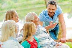 Passer le temps avec la famille Images stock