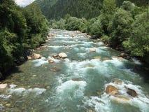 Passer River. River passer near meran South Tirol italy stock photography