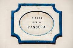 Passera della аркады подписывает внутри Флоренцию Стоковые Фотографии RF