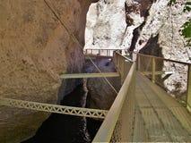 Passerella del canyon di Whitewater Fotografie Stock