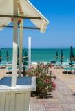 Passerella della spiaggia in Italia Fotografie Stock
