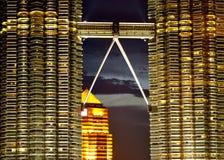 Passerella delle torri di gemelli di Petronas Immagine Stock Libera da Diritti