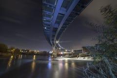 Passerella di Castleford sopra il fiume Aire fotografia stock libera da diritti