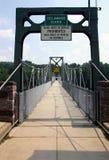 Passerella - fiume di Delaware Fotografia Stock Libera da Diritti