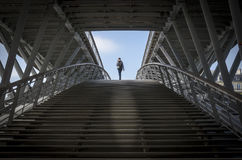 Passerella Leopold-Sedar-Senghor, Parigi, Francia Fotografia Stock Libera da Diritti