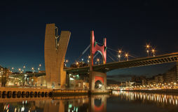 Passerelle à Bilbao Photo stock