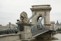 Passerelle à chaînes à Budapest Image libre de droits