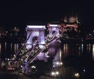 Passerelle à chaînes à Budapest Photographie stock libre de droits