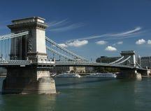 Passerelle à chaînes à Budapest Images stock