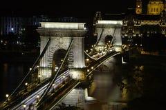 Passerelle à chaînes à Budapest Photos libres de droits