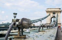 Passerelle à chaînes, Budapest photographie stock libre de droits