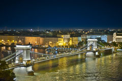 Passerelle à chaînes Budapest photographie stock libre de droits