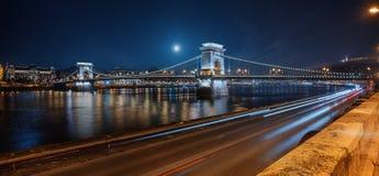 Passerelle à chaînes, Budapest Images libres de droits