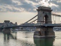 Passerelle à chaînes, Budapest, Hongrie Photo libre de droits