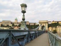 Passerelle à chaînes, Budapest, Hongrie photo stock