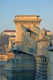 Passerelle à chaînes de Szechenyi à Budapest, Hongrie Photo stock