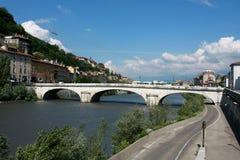 Passerelle à Grenoble Image libre de droits