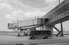 Passerelle à l'aéroport de Taoyuan à Taïpeh, Taïwan Images stock