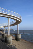 Passerelle à la Leigh-sur-Mer, Essex, Angleterre Photos libres de droits