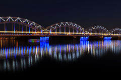 Passerelle à Riga Image libre de droits