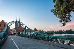 Passerelle à wroclaw Images libres de droits