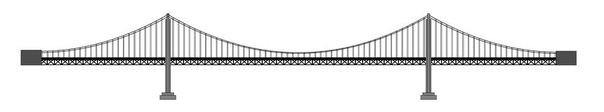 Passerelle illustration libre de droits