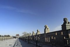 Passerelle antique de la Chine Images stock
